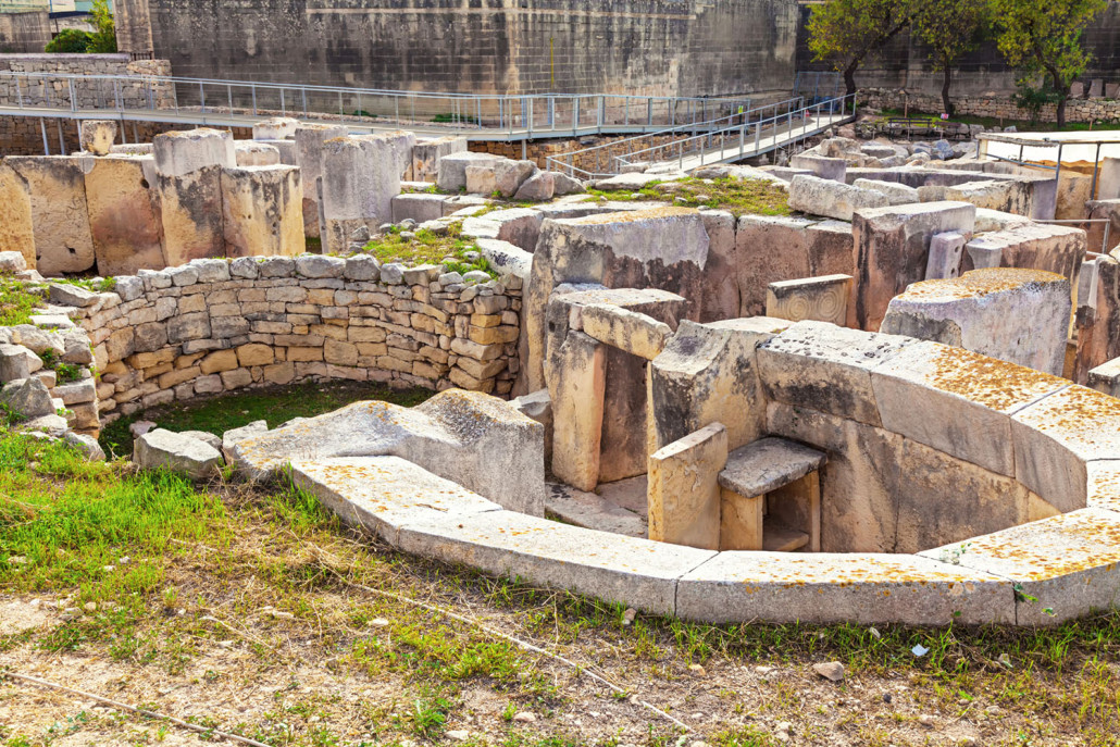 Hagar Qim, ancient Megalithic Temple of Malta, is a unesco world heritage site on the island nation of Malta.